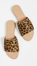 $166 Anthropologie Mystique Sandals Slides in Leopard Pony Hair sz 9