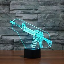 3D Illusion Lamp Gun Effect Night Light 7 Colors Switch by Smart Touch Button