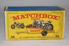 Matchbox Superfast #38 Honda Moto & Remorque Vide Original Boîte, Agréable