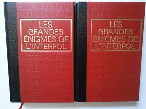 LOT LIVRES ANCIENS - LES GRANDES ENIGMES DE L'INTERPOL > VOLUMES 1, 2 / CREMILLE