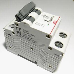 15 Amp LSis 2 Pole Din Rail MCB Circuit Breaker UL1077 6kA @ 480V; 10kA @ 240V