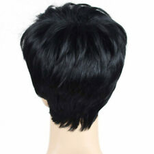 High Quality Hair Black Pixie Short Cut Wigs None Lace Wig For Black Women EA7C