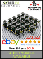 21 Minifigures Green Dragon Army Knights Mace Castle King   LE GO Compatible