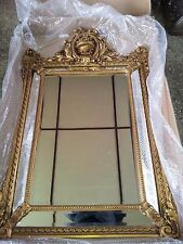STUNNING ANTIQUE GOLD FRENCH EMPIRE REGENCY PIER ORNATE WALL MIRROR @ AUNTIES