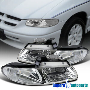 For 1996-2000 Dodge Caravan Chrysler Town&Country Headlights Lamps