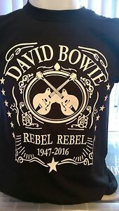DAVID BOWIE - REBEL REBEL 1947-2016 - 100% COTTON T-SHIRT