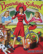 Boarding School Paper Doll Reproduction-6 Dolls w/ Fabulous 1940s Fashions!