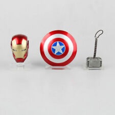 Iron Man MK43 LED Light Helmet Captain America Shield Thor Hammer With Base