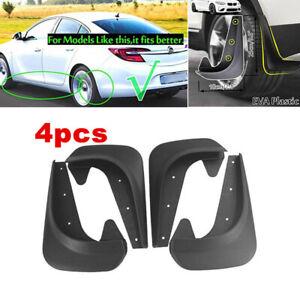 4Pcs/set EVA Plastic Universal Black Mud Flaps Guards Splash Molded Front Rear