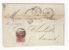 1863 Marchienne Au Pont Belgium Amb Givet E to Charleville France, 40c #12