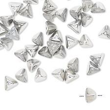 8524 Glass Beads Pyramid 6mm PK40 Silver *UK EBAY SHOP*