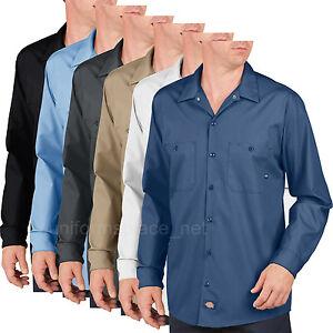 Dickies work Shirts Mens Premium Industrial Long Sleeve Shirt LL535 colors