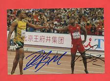 2 Orig.Autogramme   USAIN BOLT (Jamaica) + JUSTIN GATLIN (USA)  !!  TOP RARITÄT