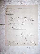 ✒ L.A.S. Edouard COLONNE chef orchestre réclame à BRANDUS partitions MEYERBEER 3