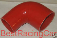 "Silicone 90 degree Elbow Reducer 2.125"" to 1.75"" Turbo Red"