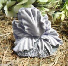 Latex small Iris pot foot mold plaster mold cement mold casting garden mould