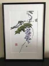 """Chinese Ink and Watercolour Painting, """"Grapes"""", Howard McKern 1984.Marked/Signed"""