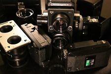 Film Tested Medium format camera Koni-Omegaflex M,lenses,viewfinders,film backs