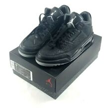 Air Jordan Retro 3 Flip Mens Size 10 Black Metallic Silver 315767 001 - New