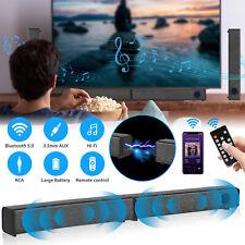 Surround Sound Bar Speaker System Wireless Bt Subwoofer Tv Home Theater w/Remote