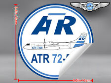 ATR 72 72-500 ROUND DECAL / STICKER 3.5 x 3.5 in / 9 x 9 cm