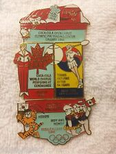 SEOUL /CALGARY 1988 4 PIN SET / PT OF 1996 COCA COLA OLYMPIC 100  PIN COLLECTION