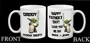 Personalised Star Wars Yoda Mug Step Dad Daddy Grandad Fathers Day Gift Present