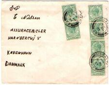 1937 Gibraltar Cover to Denmark 6 x 1/2d KGV
