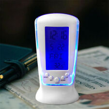 Digital Backlight LED Display Table Snooze Helpful Thermometer Alarm Clock US