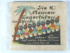 Die 10 kleinen Negerbuben in Afrika, Adolf Uzarski, sehr seltenes Leporello-1925