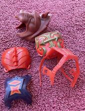 Vintage 1980s He-Man MOTU Original Chest Protectors & Battle Cat Helmet