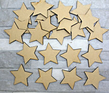 S05 WOODEN MDF STARS 5 POINTED embellishment decoration scrapbook decoupage