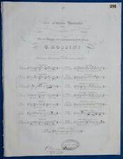PIANO CHANT PARTITION ROSSINI DUO ITALIE LA SERENATA PEPOLI APPONY 1825 BILINGUE