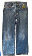 Coogi sz 32 - 34 waist x 34 Mens Blue Jeans Denim Pants B0860