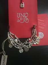 Uno De 50 Beaded Charmed Bracelet - NWT - Waterfallita - PUL1272 - Rare Find - M