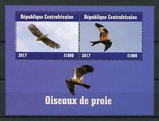 Central African Republic 2017 MNH Birds of Prey 2v M/S III Raptors Stamps