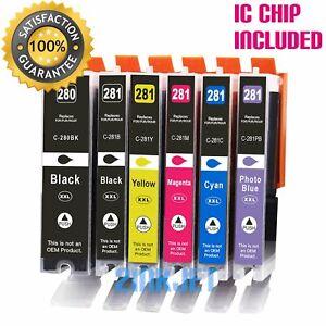 6pk PGI-280 XXL CLI-281 XXL Ink for Canon Pixma TS8120 TS8220 TS8320 TS8322