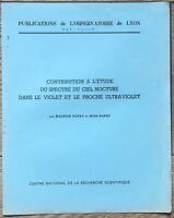 Contribution a l'etude du spectre du ciel nocturne Observatorie Lyon libro