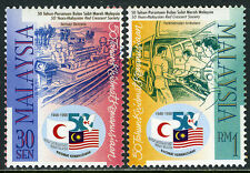 Malaysia 663-664a, MNH. Red Crescent Society. Rescue boat, Mobile unit, 1998