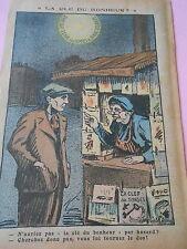 La Clé du Bonheur vous lui tournez le dos Humour dessin Print 1936