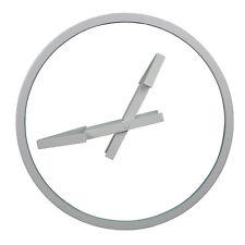 GRANDE 3D Parete Freccia Specchio in vetro Bianco Orologio Cucina Casa Ufficio moderno