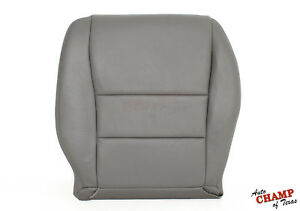 2004 Honda Accord 4-Door -Driver Side Bottom Replacement Leather Seat Cover Gray