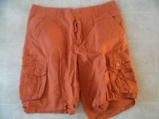 Surplus Cargo Shorts Orange Cotton Mens sz 34