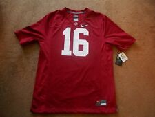 Authentic Nike #16 Alabama Crimson Tide Red Football Game Jersey Men L TAGS NEW
