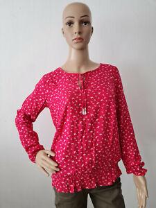 s.Oliver Damen Blusenshirt Langarm Bluse Lila/Pink Größe 36-38