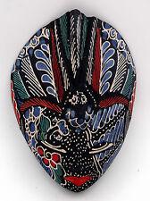 Art Indonésien masque Javanais traditionnel en batik bleu Garuda