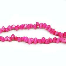 Magnesite Chip Beads 6-12mm Bright Pink 85+ Pcs Handcut Gemstones DIY Jewellery