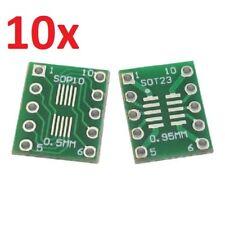 10 Stück SMD IC Adapterplatine SOP8 SSOP8 auf RM 2,54 mm Leiterplatte DIP DIL