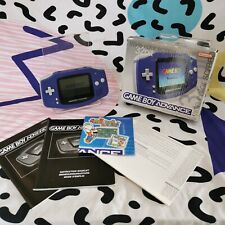 Purple Gameboy Advance Complete (Box & Paper work) TESTED 2000 retro
