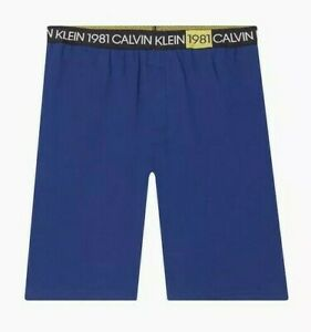 + Calvin Klein - Men's BOLD 1981 LOUNGE SHORTS   NM1709-404 Blue Depths MSRP $49